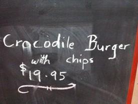 hamburger di coccodrillo
