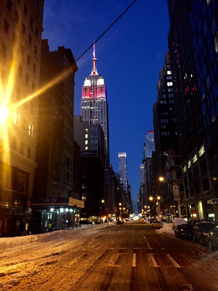 neve sotto l'Empire State Building