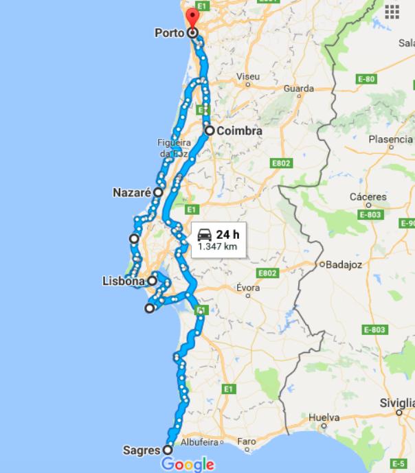 Itinerario viaggio Portogallo