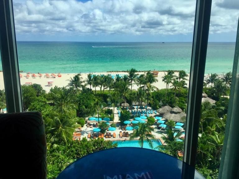 vista della spiaggia di Miami