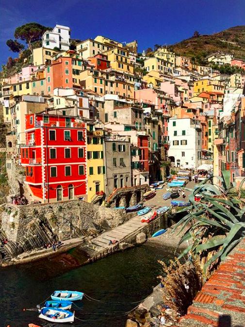 case colorate di riomaggiore